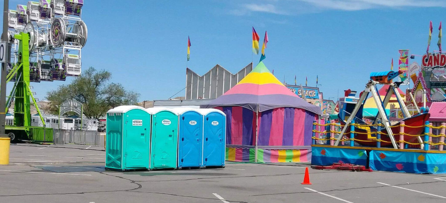 Portable Toilets in a fair